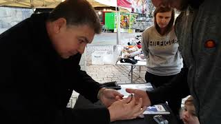 (Swearing) Darren Brand Magician's in Lancashire at the Wolverhampton Victorian Christmas Markets.