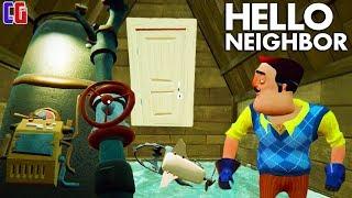 - Пробрался в ТАЙНУЮ КОМНАТУ СОСЕДА Побег из дома Привет Сосед через дверь Прохождение АКТ 2 Вариант 2