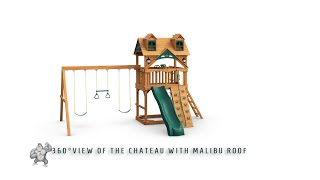 360° View of the Chateau Swing Set with Malibu Roof