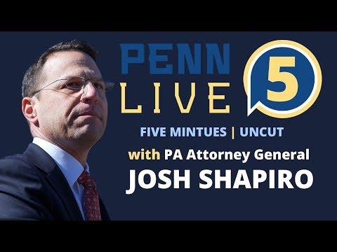 Quick Q&A with Josh Shapiro Pennsylvania's Attorney General | PennLive 5 | Ep 1