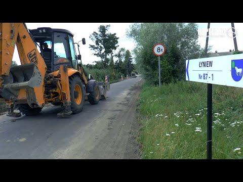 Powstaje droga na Łyniew