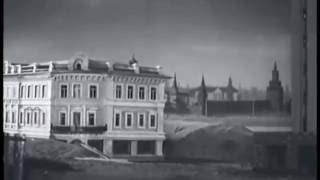 1938, Москва. Как передвигают дома на Тверской ?