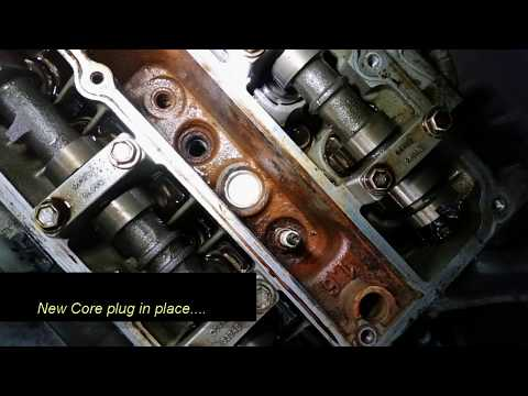 Фото к видео: Ford 1.6 zetec core plugs in Cylinder head replacement