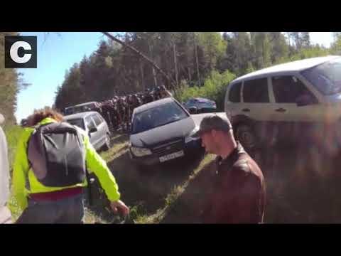 Столкновения активистов с полицией в Ликино-Дулево