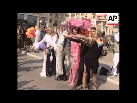 Clashes break out at gay pride parade