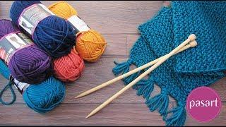 Jak zrobić szalik na drutach krok po kroku? Nauka robienia na drutach - oczka prawe - pasart.pl