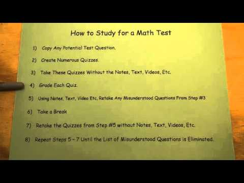 How to Study for a Math Test