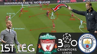 How Klopp's Liverpool Destroyed Pep's Manchester City in Champions League: Tactical Analysis|1st LEG