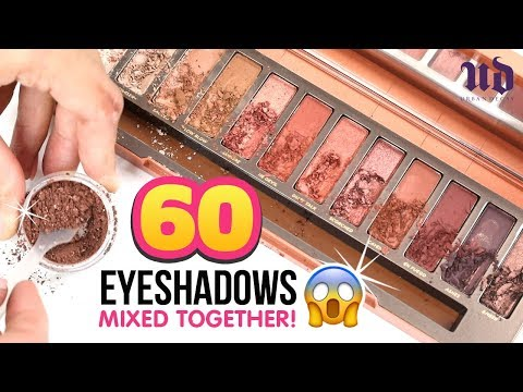 "We Mixed 60 EYESHADOWS Together And Discovered A Crazy Secret from URBAN DECAY!!! DIY Makeup ""Hacks"""