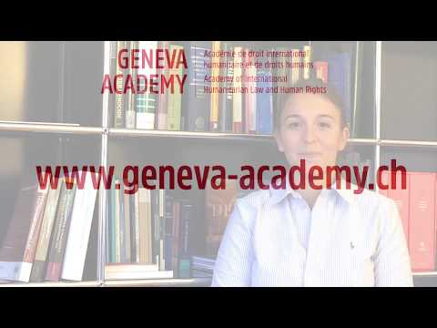 'To me the Geneva Academy is' by Emilie Max, alumna of our...