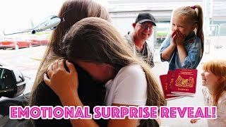 EMOTIONAL SURPRISE HOLIDAY REVEAL AT THE AIRPORT!
