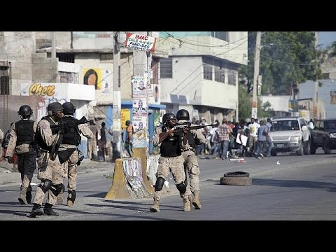 Haitians protest against presidential poll results