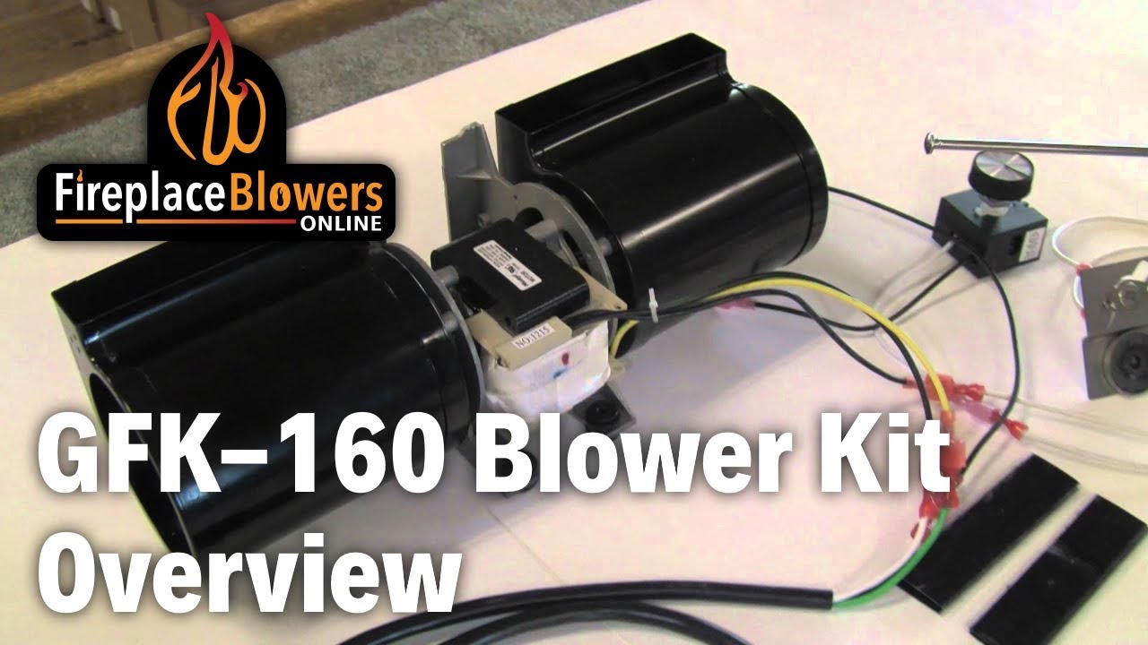 Fireplace Insert Blower Fan Gfk 160 Fireplace Blower Fan Kit Overview