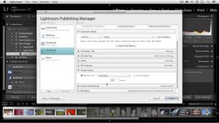 Lightroom CC - Publishing Collections of Photographs to Facebook