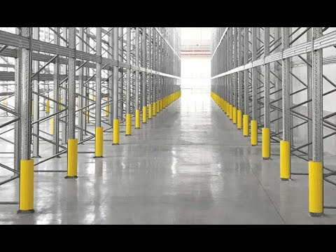 Perfect Plastic Rack Protection For Better Warehouse Safety