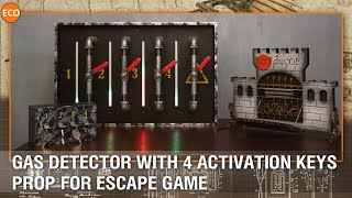 Gas detector with 4 activation keys - Prop for escape game.