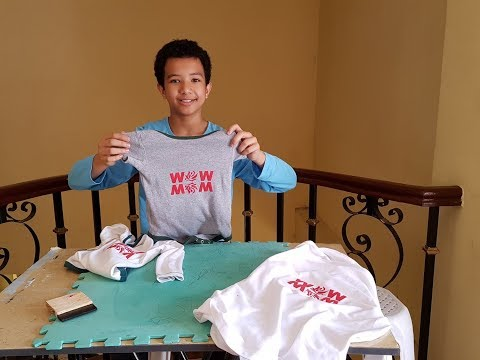 How to Print on Shirt, Homeschooling Project in HELE/Home based Business with Little Start Up