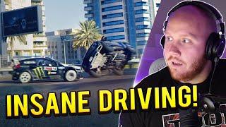 TIMTHETATMAN REACTS TO KEN BLOCK DRIVING IN DUBAI! FORD FIESTA GYMKHANA