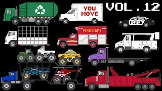 Vehicles Collection Volume 12 - Emergency, Commercial & Monster Vehicles - The Kids' Picture Show