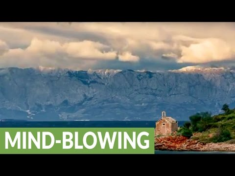 Breathing time lapse photography of Croatian island thunderstorm