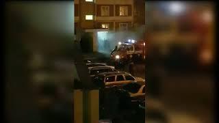 Пожар в минской многоэтажке на Левкова