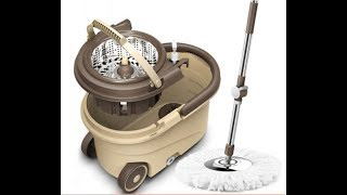 Комплект для уборки: вращающаяся швабра и ведро с отжимомведросшваброй