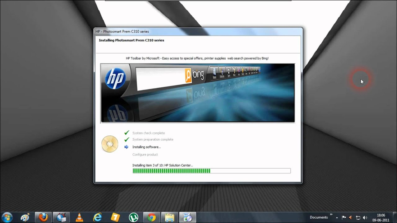 HP Photo Creations Software Installation Procedure Screencast