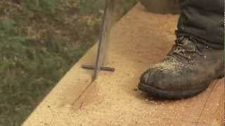 Herstellung von Holzbrunnen - Bearbeitung des Stammes (Teil 2)