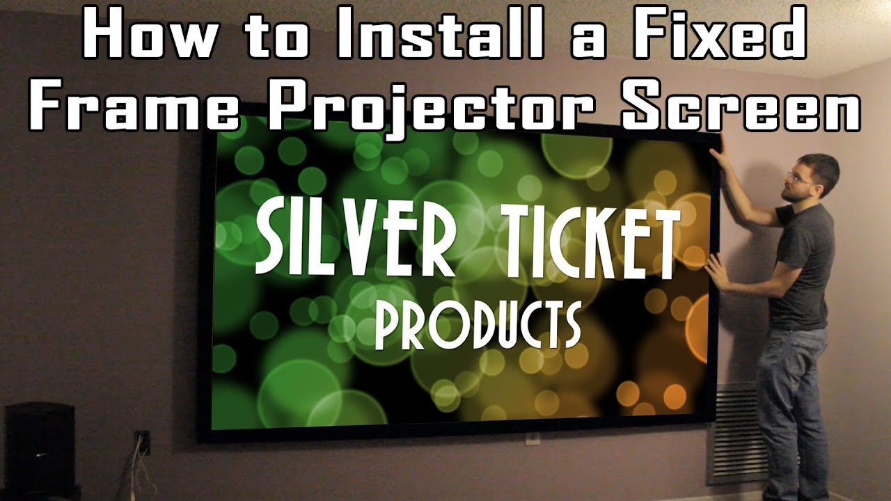 tig tutorial how to install a fixed frame projection screen silver ticket str series youtube