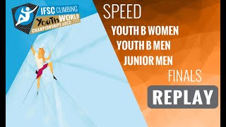 IFSC Youth World Championships - Arco 2019 -SPEED- Finals -Youth B Women -Youth B Men - Junior Men