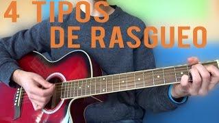 aprender 4 tipos de rasgueos en guitarra