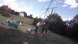 final lift attempt of 160 40 meter loop antenna