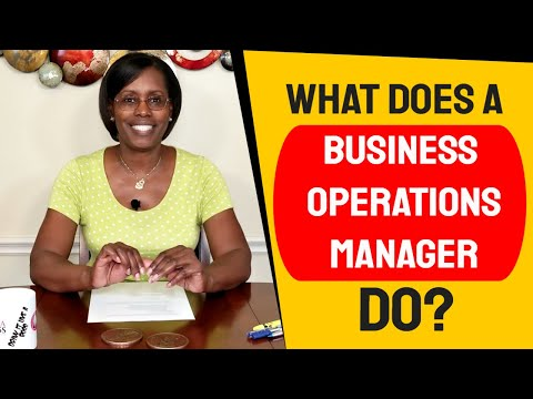 What Does A Business Operations Manager Do?