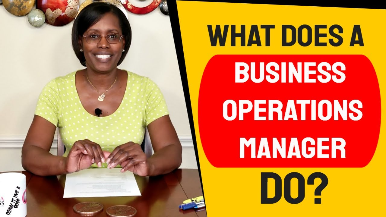 business operations manager - my definition of what i do