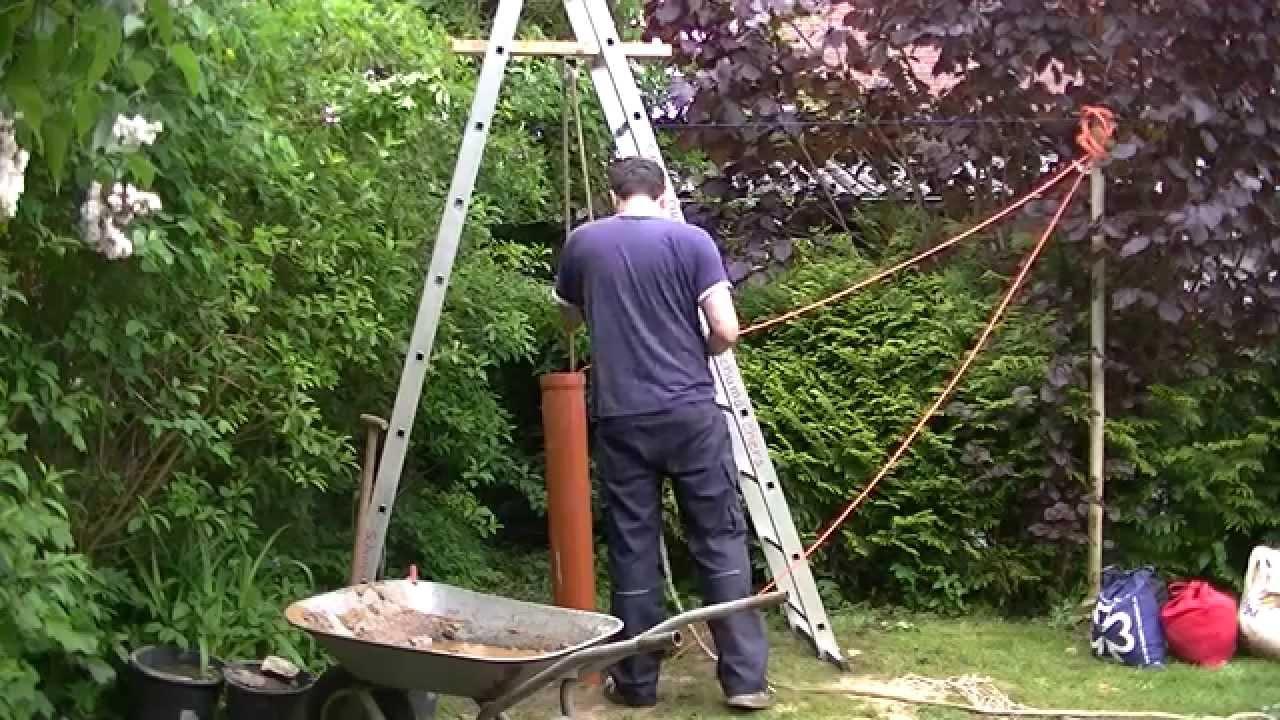 brunnenbohren von hand anleitung plunschen well drilling youtube. Black Bedroom Furniture Sets. Home Design Ideas