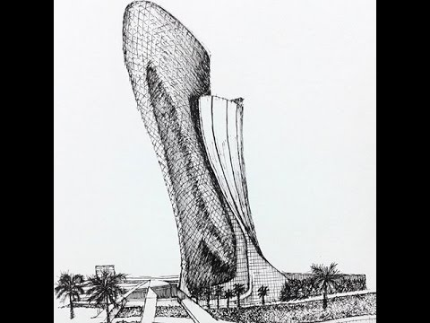 Capital Gate, Construction English