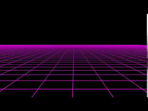 Resource: Horizontal Scrolling 80s Retro Neon Grid 1080p