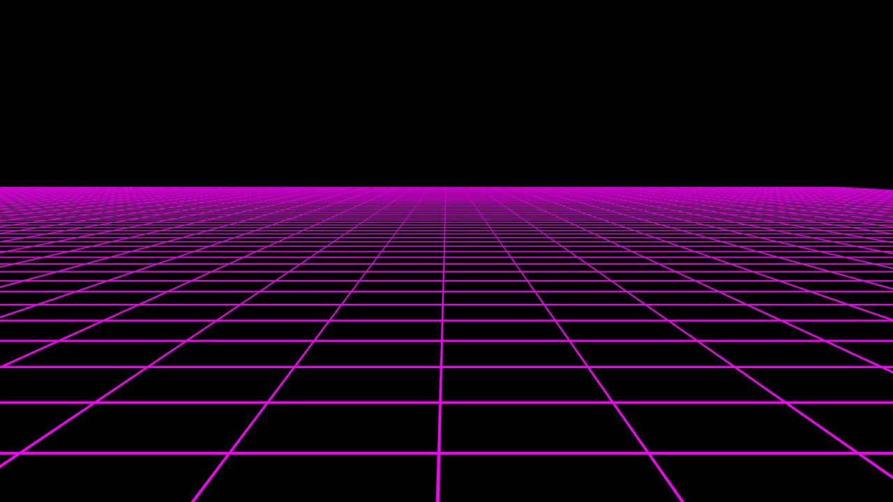Resource horizontal scrolling 80s retro neon grid 1080p - Space 80s wallpaper ...