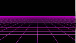 Resource: Horizontal Scrolling 80s Retro Neon Grid (1080p)