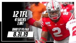 Ohio State Defense Full Highlights vs FAU | 4 Sacks, 12 TFLs, 1 INT | 8.31.19
