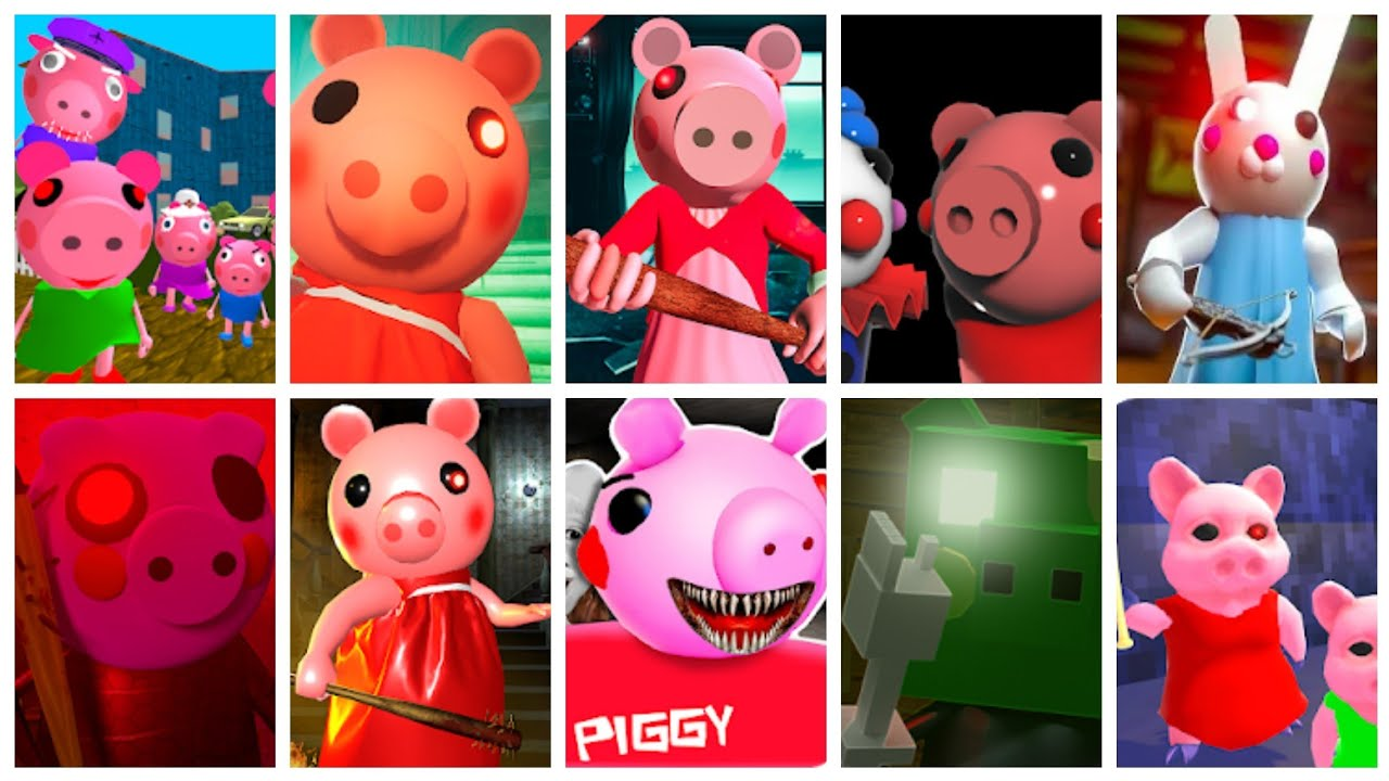 Piggy🐷 Caught Scene Battle part 26 - Piggy+Granny Piggy+Zombie Piggy+Scary Piggy+Hello Piggy & More