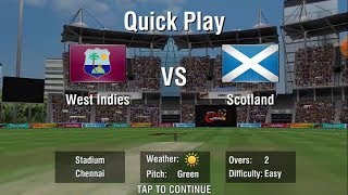 West indies First Wicket Of the Match || WI VS SCO || WCC2 Gameplay Video