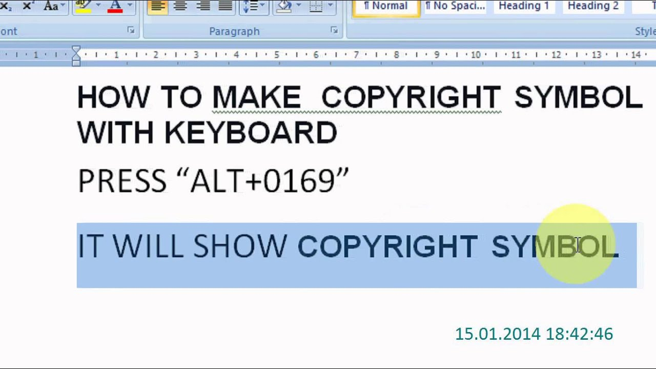 How to make the copyright symbol on your keyboard youtube how to make the copyright symbol on your keyboard buycottarizona Images
