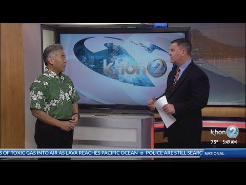 Gov. David Ige provides update on emergency response to Kilauea lava flow, Kauai flooding