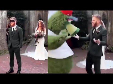 Intern Sami - Too Cute! Groom is Pranked By Bride During First Look Pic