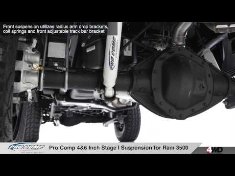 Pro Comp 4 & 6 inch Stage I Suspension for Ram 3500