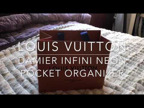 d97d2e9e3c61 Louis Vuitton Damier Infini Neon Pocket Organizer - YouTube