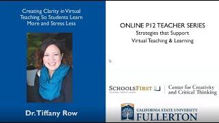K12 Online Teaching Webinars: Creating Clarity in Virtual Teaching