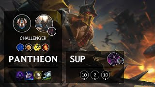 Pantheon Support vs Morgana - EUW Challenger Patch 10.20