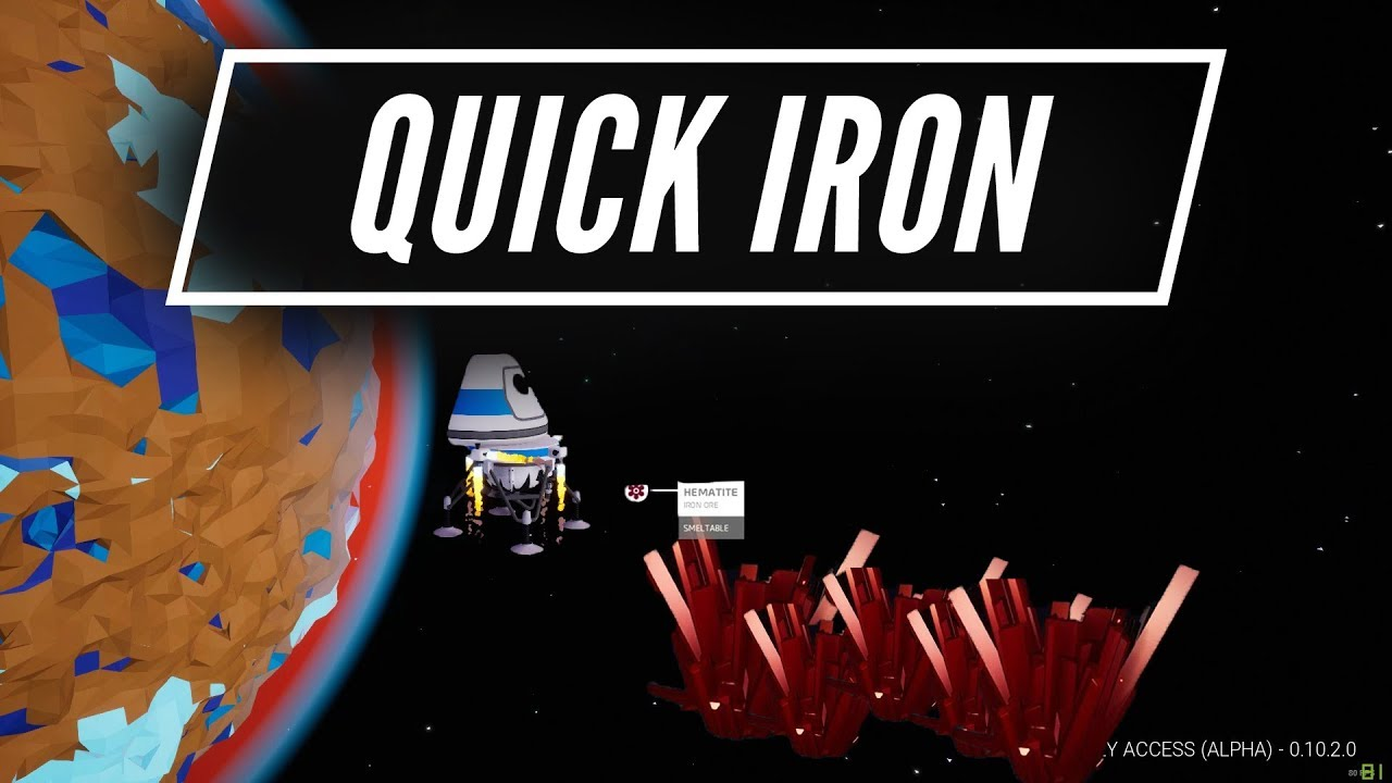Quickest Way To Get Iron  Astroneer Starter Guide  YouTube